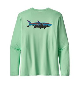 Patagonia Mens Graphic Tech Fish Tee Fitz Roy Tarpon: Vjosa Green