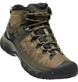 Keen Footwear Mens Targhee III Mid Leather Waterproof- Bungee Cord/Black