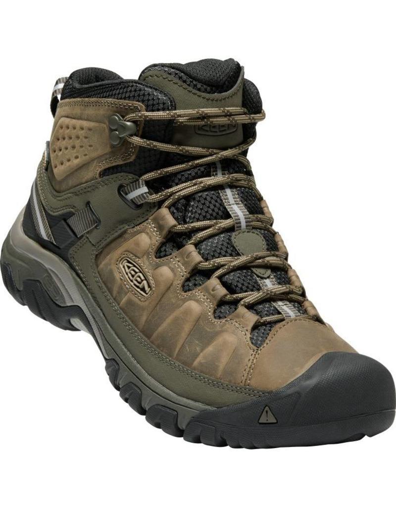 Keen Footwear Mens Targhee III Mid Leather Waterproof- Bungee Cord/Black