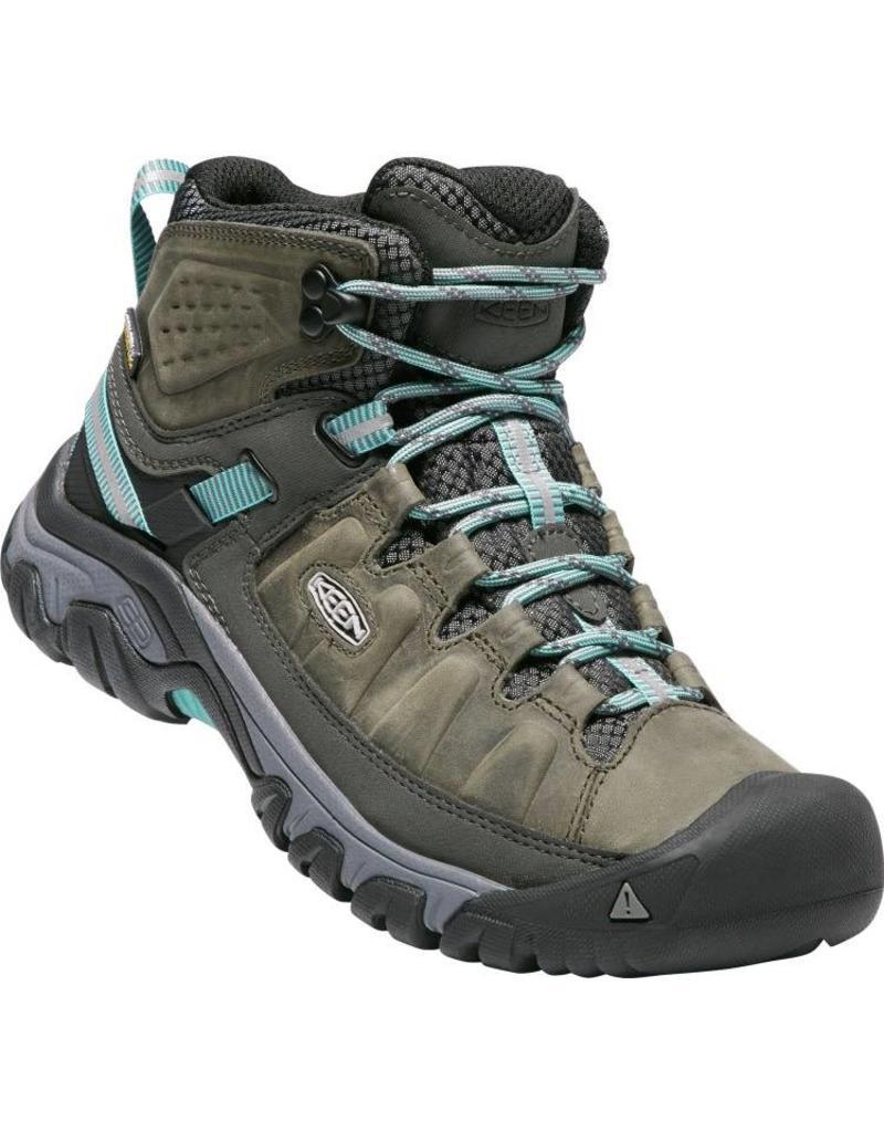 Keen Footwear Womens Targhee III Mid Waterproof- Alcatraz/Blue Turquoise