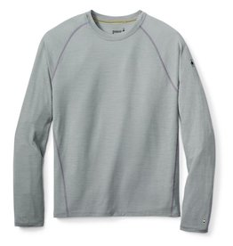 Smartwool Mens Merino 150 Baselayer Stripe Long Sleeve Light Gray