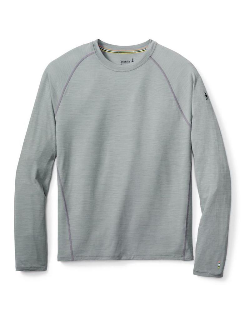 Smartwool Mens Merino 150 Baselayer Stripe Long Sleeve Light Gray