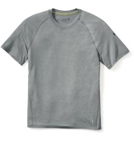 Smartwool Mens Merino 150 Baselayer Stripe Short Sleeve Light Gray