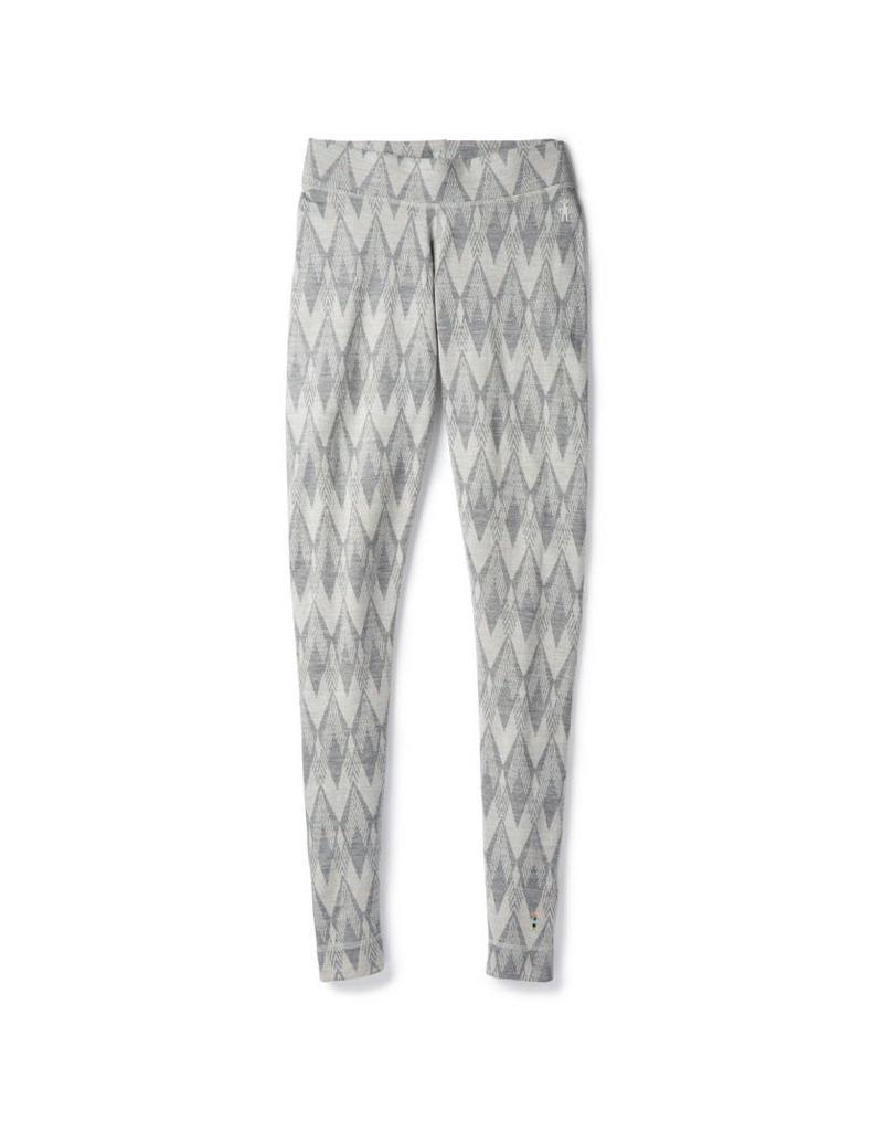 Smartwool Womens Merino 250 Baselayer Pattern Bottom Light Gray-Moonbeam Heather