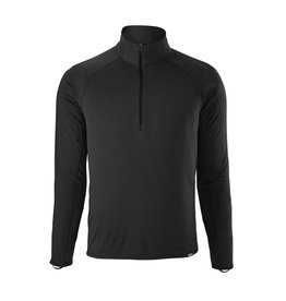 Patagonia Mens Capilene MW Zip Neck Black