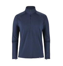 Patagonia Mens Capilene MW Zip Neck Navy Blue