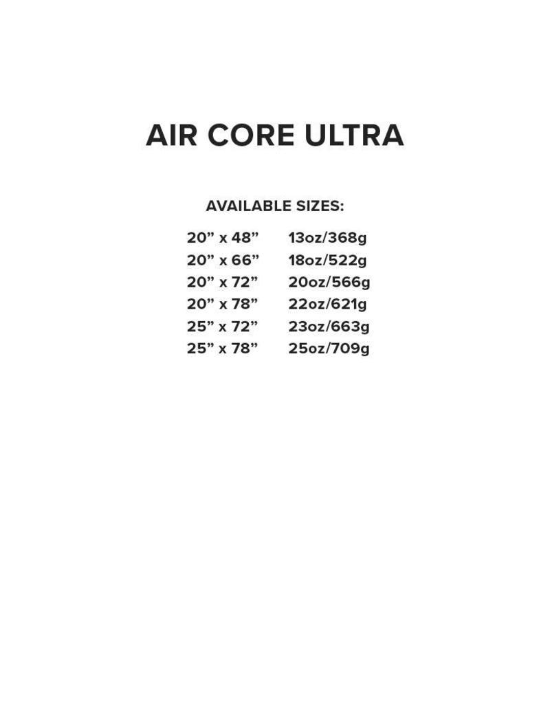 Big Agnes Air Core Ultra 20x66 PETITE