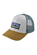 Patagonia P-6 Logo LoPro Trucker Hat White w/Kastanos Brown ALL