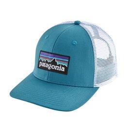 93abb68056f9d Patagonia P-6 Logo Trucker Hat Lumi Blue ALL