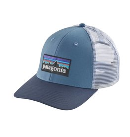 Patagonia P-6 Logo Trucker Hat Railroad Blue ALL