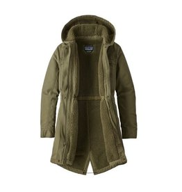 Patagonia Womens Insulated Prairie Dawn Parka Fatigue Green