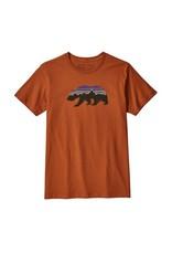 Patagonia Mens Fitz Roy Bear Organic T-Shirt Copper Ore