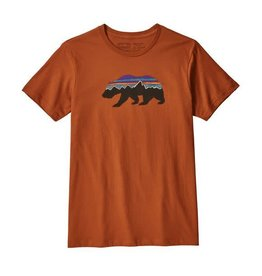 Patagonia Mens Fitz Roy Bear Organic T-Shirt Copper Ore
