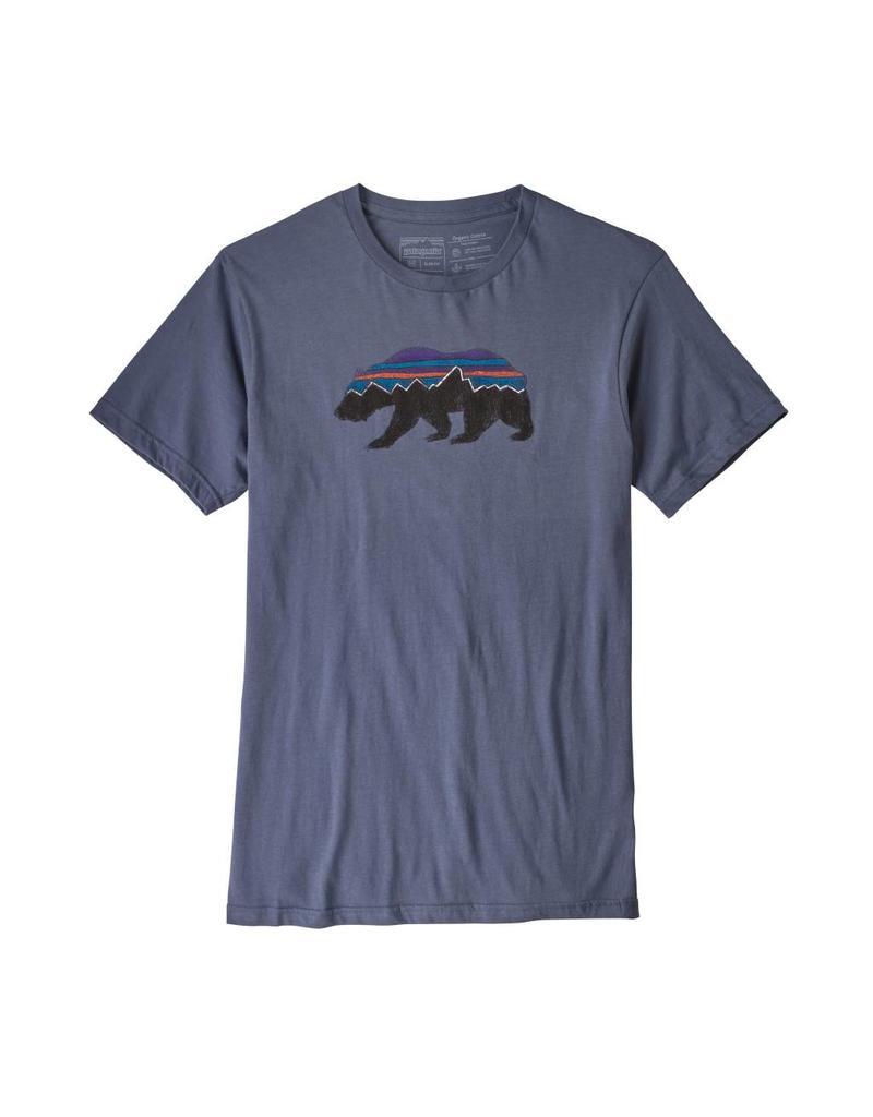 Patagonia Mens Fitz Roy Bear Organic T-Shirt Dolomite Blue