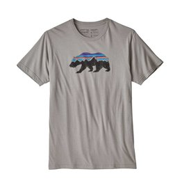 Patagonia Mens Fitz Roy Bear Organic T-Shirt Feather Grey