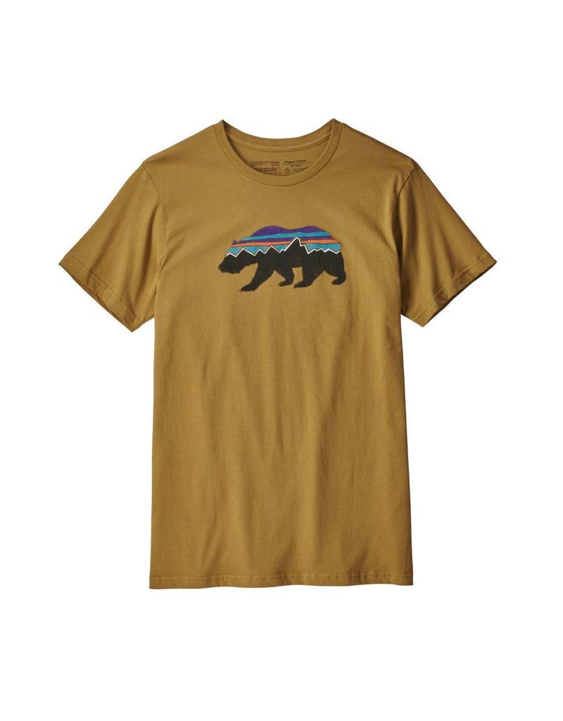Patagonia Mens Fitz Roy Bear Organic T-Shirt Kastanos Brown