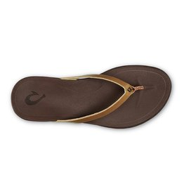 Olukai Ho'opio Leather Womens Sahara/ D Java