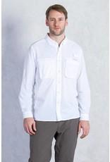 Exofficio Mens Air Strip Long Sleeve White