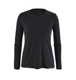 Patagonia Womens Cap Daily L/S T-Shirt Black