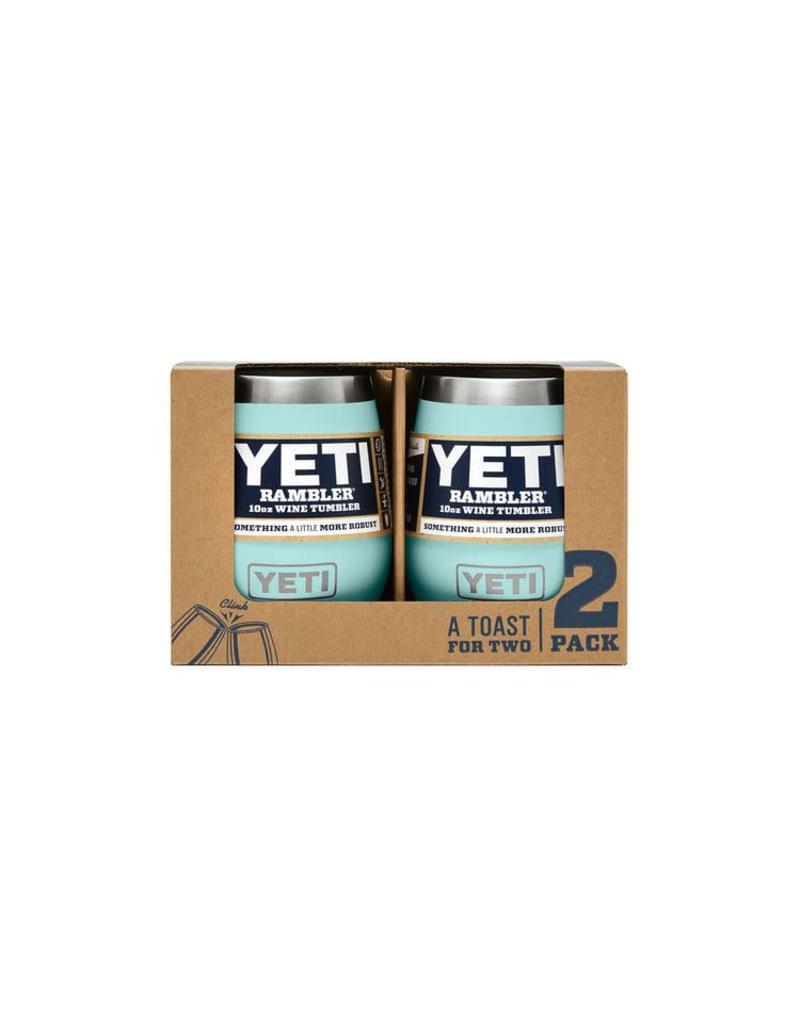 Yeti Rambler 10oz Wine 2 Pack Seafoam