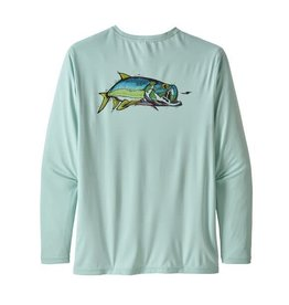 Patagonia Mens L/S Cap Cool Daily Fish Graphic Shirt CHAB