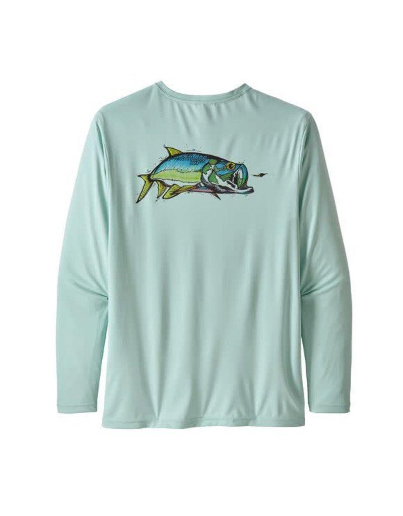 Patagonia Mens L/S Cap Cool Daily Fish Graphic Shirt CHAB