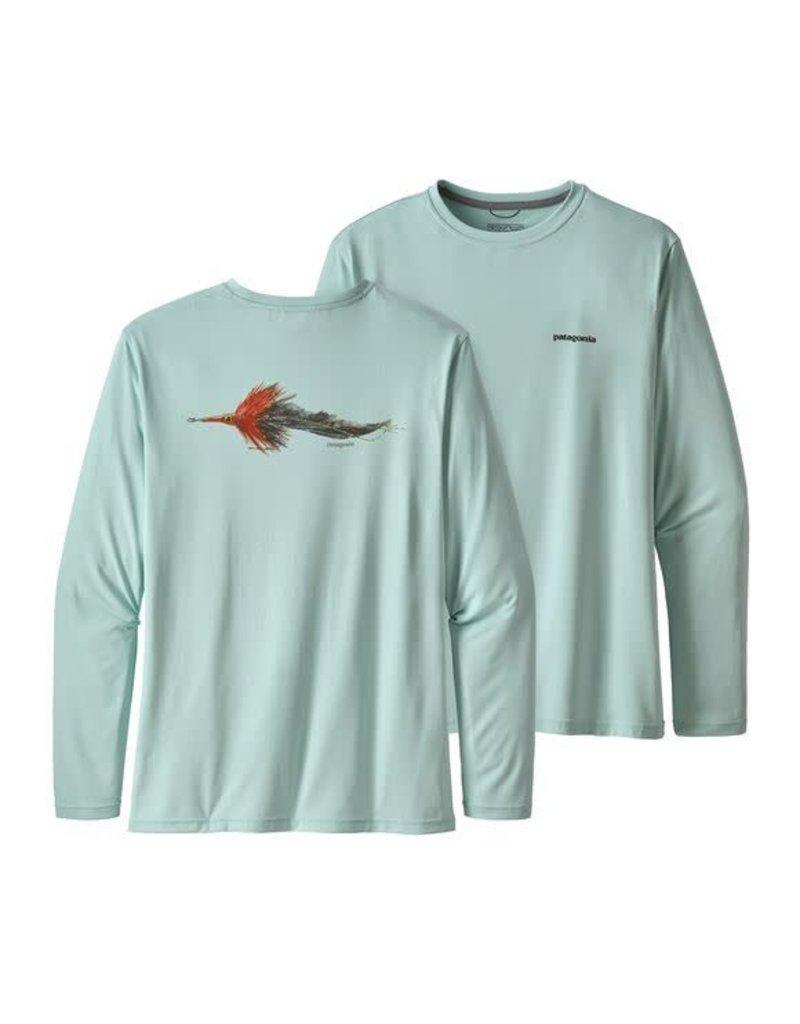 Patagonia Mens L/S Cap Cool Daily Fish Graphic Shirt POAB