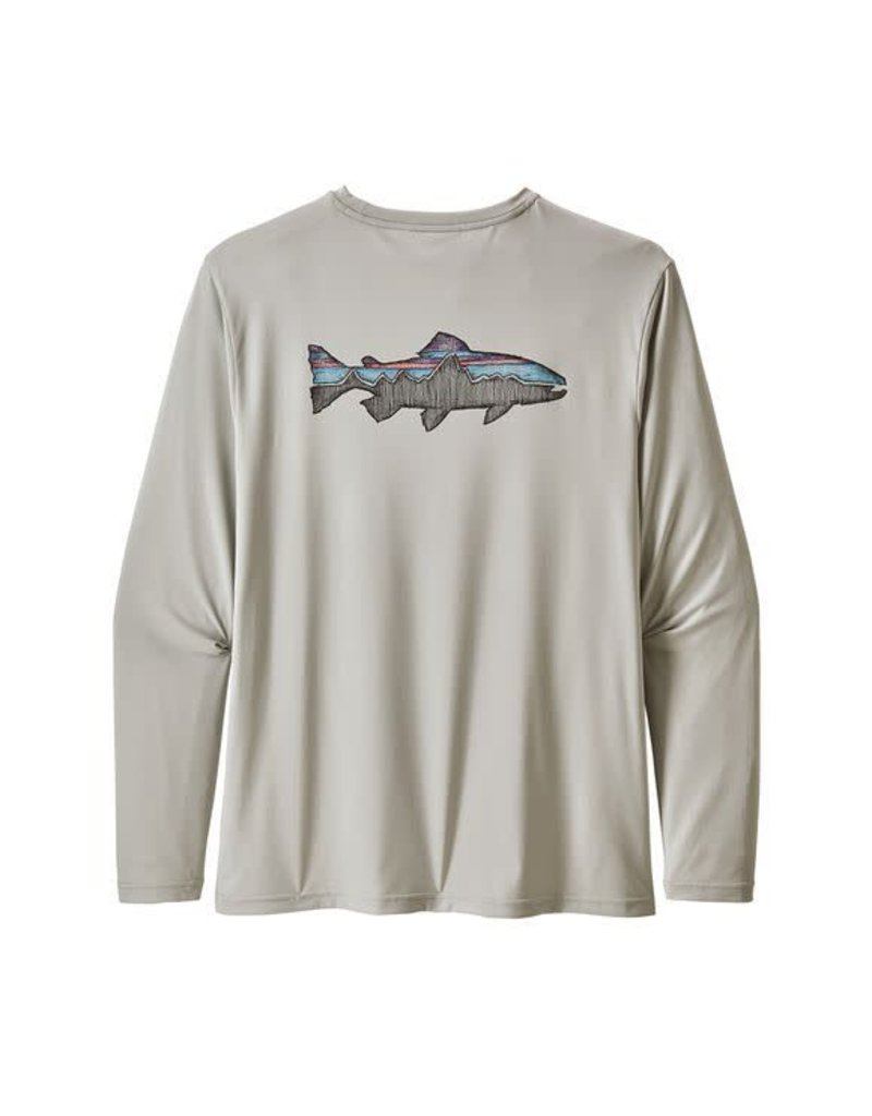 Patagonia Mens L/S Cap Cool Daily Fish Graphic Shirt SFTA