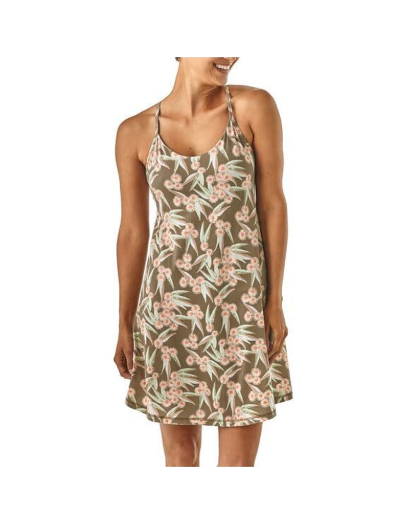 eb8f02229fa Womens Edisto Dress Las Flores Marrow Grey - Tampa Bay Outfitters