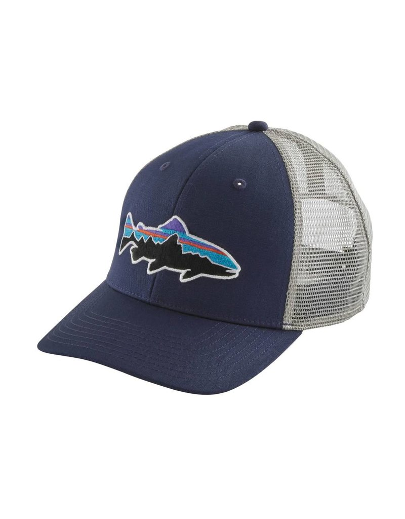 Patagonia Fitz Roy Trout Trucker Hat Classic Navy w/Drifter Grey ALL