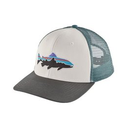 Patagonia Fitz Roy Trout Trucker Hat White w. Forge Grey