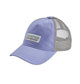 Patagonia Womens Pastel P-6 Label Layback Trucker Hat Lt Violet Blue