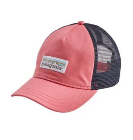 Patagonia Womens Pastel P-6 Label Layback Trucker Hat Sticker Pink