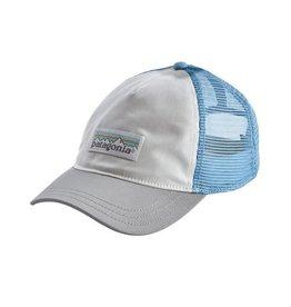 Patagonia Womens Pastel P-6 Label Layback Trucker Hat White w/ Drifter Grey