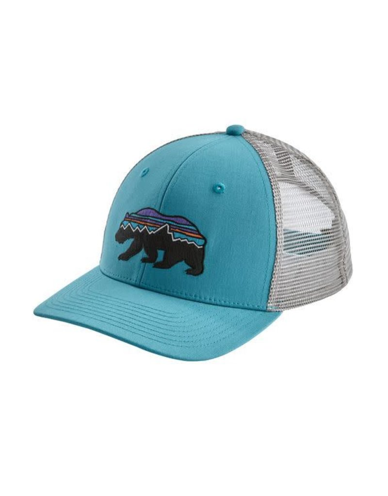 Patagonia Fitz Roy Bear Trucker Hat Mako Blue