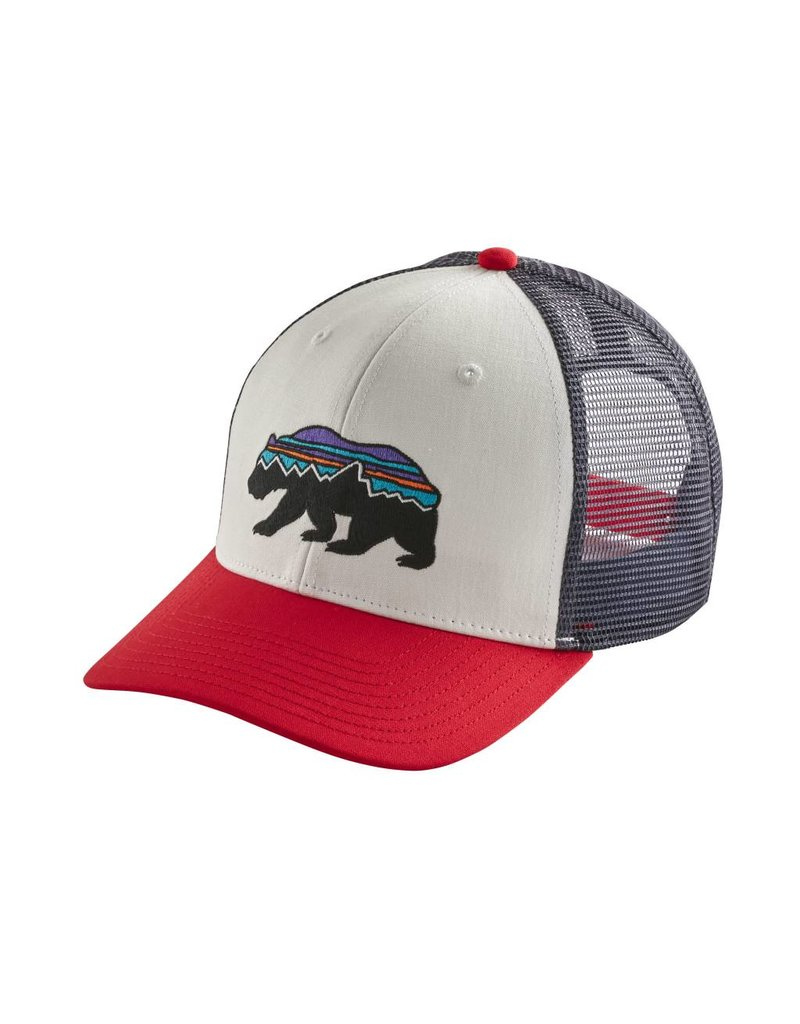 Patagonia Fitz Roy Bear Trucker Hat White ALL