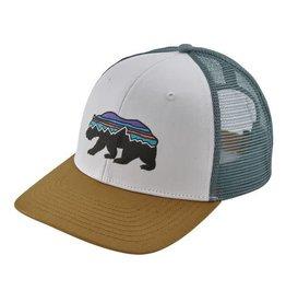 Patagonia Fitz Roy Bear Trucker Hat White w/Kastanos Brown