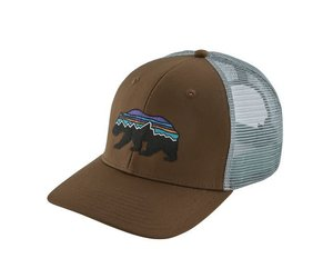 7b7578e247fa9 Fitz Roy Bear Trucker Hat Timber Brown - Tampa Bay Outfitters