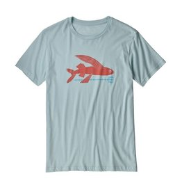 Patagonia Mens Flying Fish Organic T-Shirt Atoll Blue