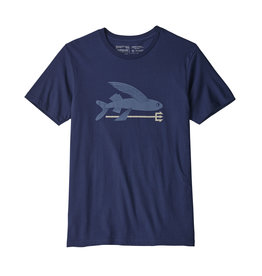 Patagonia Mens Flying Fish Organic T-Shirt Classic Navy