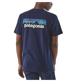 Patagonia Mens P-6 Logo Organic T-Shirt Classic Navy