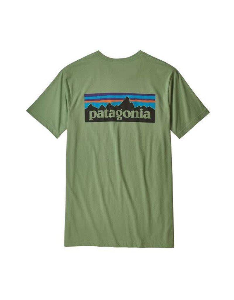 Patagonia Mens P-6 Logo Organic T-Shirt Matcha Green
