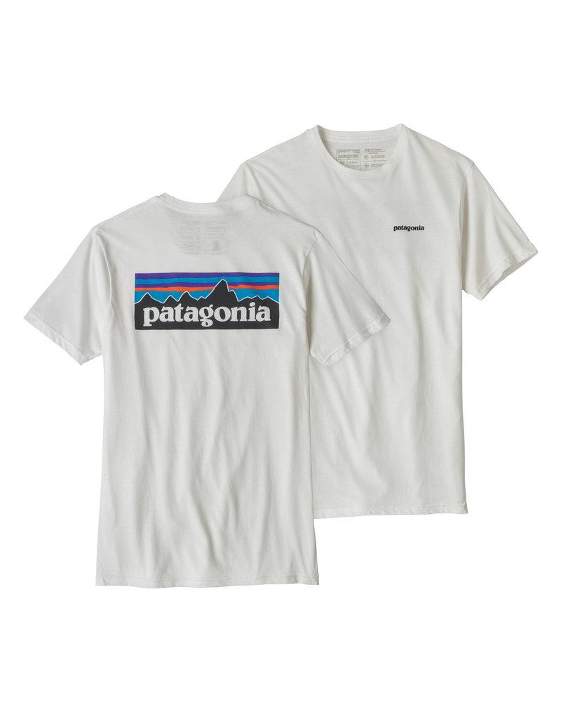 Patagonia Mens P-6 Logo Organic T-Shirt White