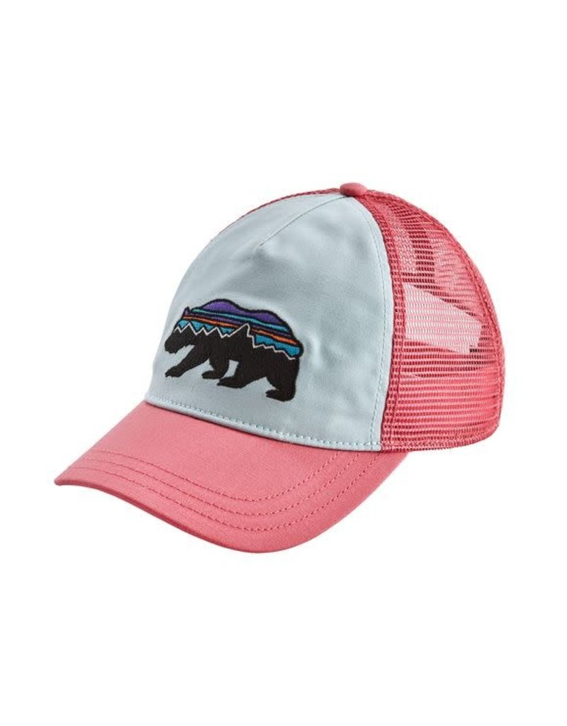 Patagonia Womens Fitz Roy Bear Layback Trucker Hat Atoll Blue