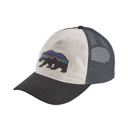 Patagonia Womens Fitz Roy Bear Layback Trucker Hat White w/ Black