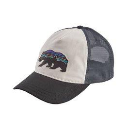 7aa018db214ec Patagonia Womens Fitz Roy Bear Layback Trucker Hat White w  Black
