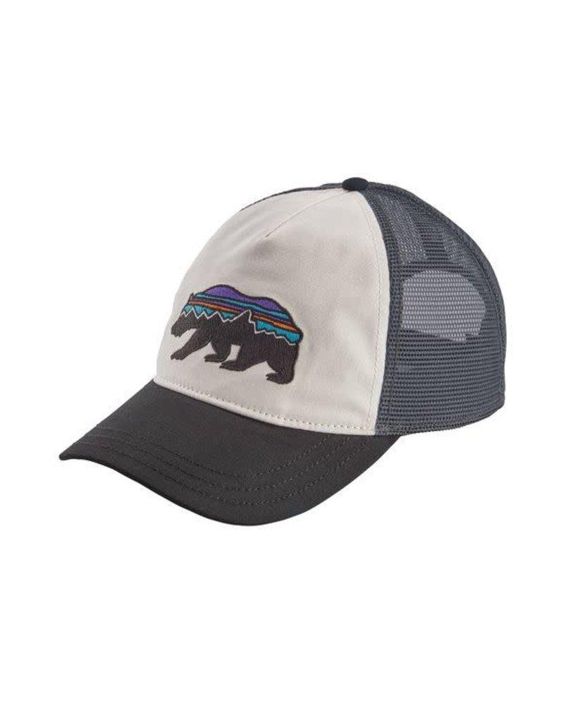 Patagonia Womens Fitz Roy Bear Layback Trucker Hat White w/ Black