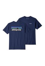 Patagonia Mens P-6 Logo Responsibili-Tee Classic Navy