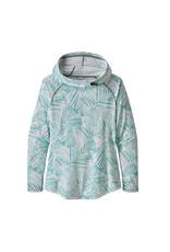 Patagonia Womens Tropic Comfort Hoody Rain Fern Wash: Dam Blue