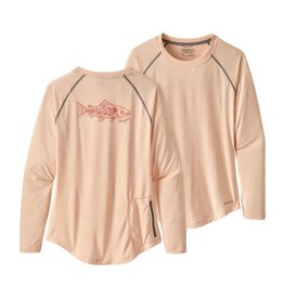 Patagonia Womens Tropic Comfort Crew Landscape Trout:Light Peach Sherbert